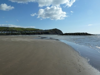 Long sandy beach at Borth