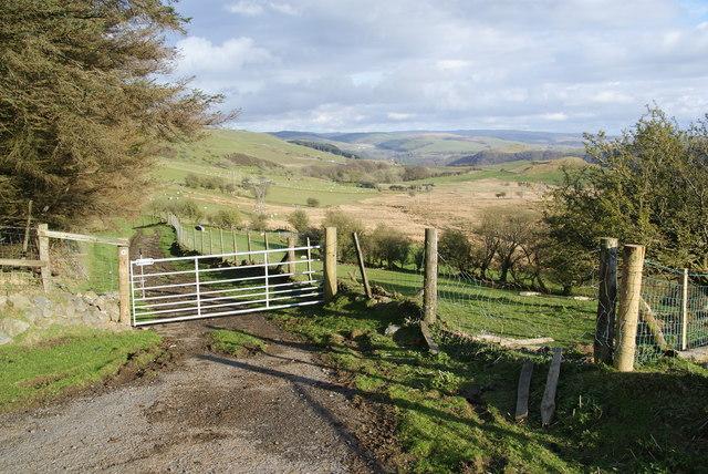 A bridleway to Ystumtuen