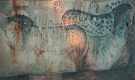 Palaeolithic cave art from around 30,000 BC depicts wild horses, which were hunted for meat.