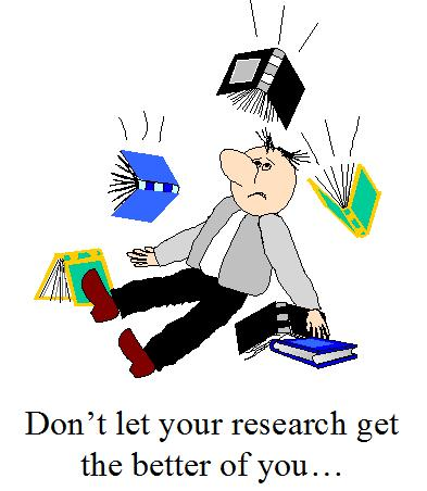 don't let your research get the better of you