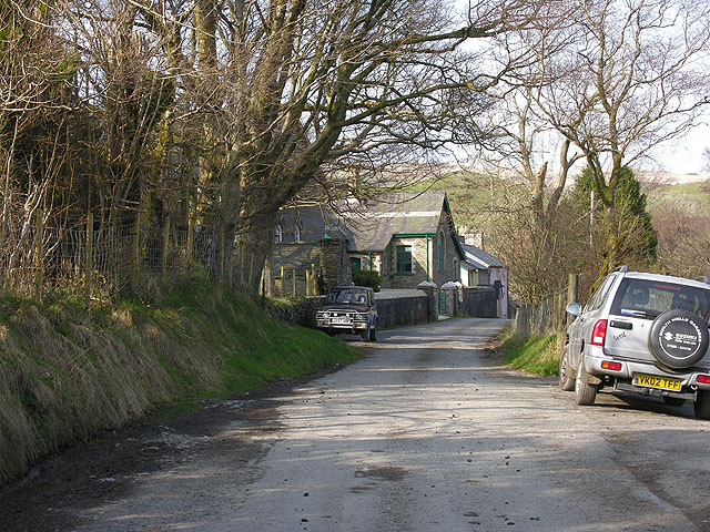 the lane from the house